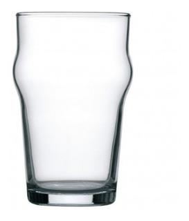 Vaso Cervecero Pinta Inglesa Nonix Apilable Vasos Para Cervecería Vidrio Templado Ultra Resistentes 580 Ml - Caja X12