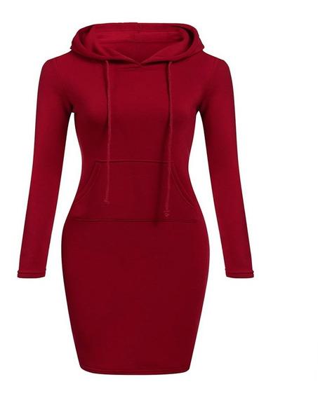 Vestido De Suéter Con Bolsillo De Encaje Mujer Colección Ot