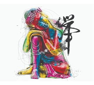 Budha Colores Med. Canvas Cuadro Decorativo