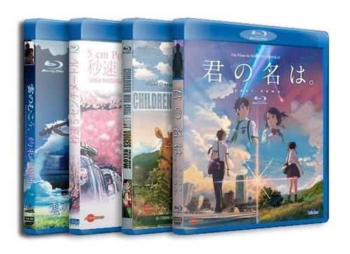 Makoto Shinkai Coletânea Blu-ray Completo