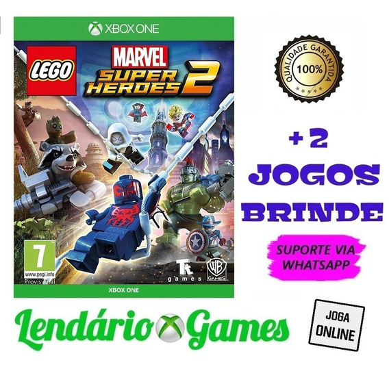 Lego Marvel Super Heroes 2 X One M. Digital + 2 Brindes
