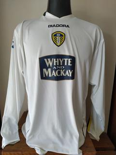 Camisa Leeds United Inglaterra 2004 Manga Longa Diadora G