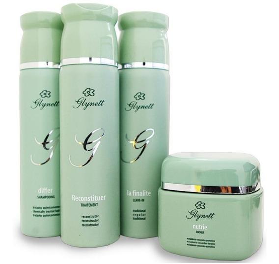 Glynett Kit Manutenção Verde 4 Produtos 250 Ml Cada