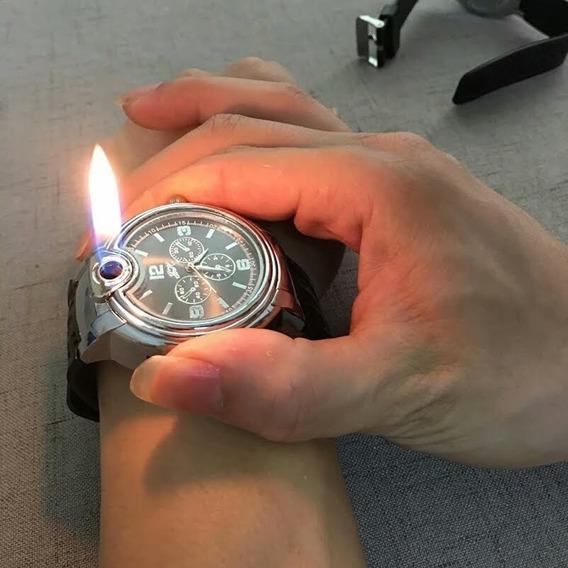 Promoção Relâmpago!! Relógio C/ Isqueiro, Entrega Rápida!!