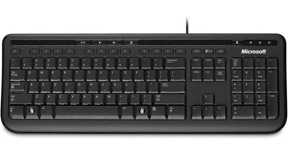 Teclado Microsoft 600 Com Fio Usb Preto
