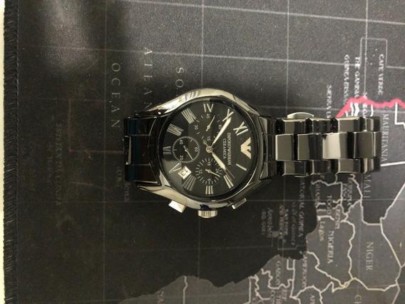 Relógio Armani Ar1400 Cerâmica Preto Promoção Seminovo