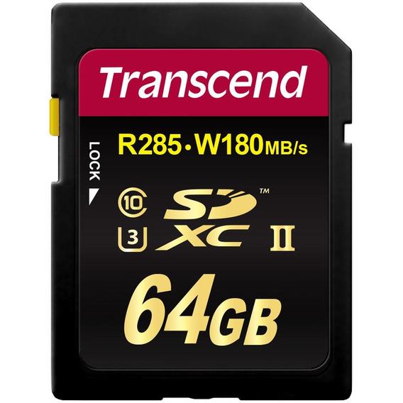 Cartão Sdxc 64gb Transcend Cl 10 Ultimate Uhs-1 R285 W180mb
