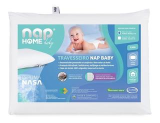 Travesseiro Nasa Nap Baby Rn Branco Viscoelástico
