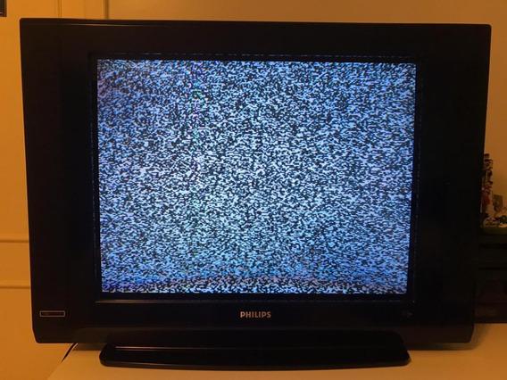 Tv Philips Ultra Slimline 29 Pol + Controle Remoto