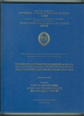 Asesoría De Tesis Y Monográfico (metodológico Y Contenido)