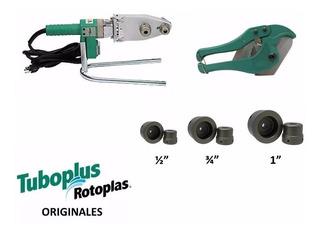 Paquete Termofusor 600w Dado 1/2, 3/4,1, Y Tijeras Tuboplus