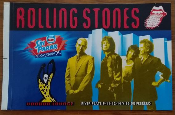 Rolling Stones - Calco Gira ´94-´95 Voodoo Lounge Argentina