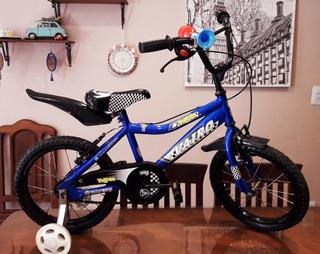 Bicicleta Rodado 16 Marca Vairo Con Rueditas Estabilizadora.