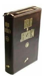 Bíblia Jerusalém Média Zíper E Índice Lateral Paulos Editora