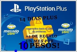 15 Pesos Por Un Mes Playstation Plus Ps3-ps4 La Más Barata