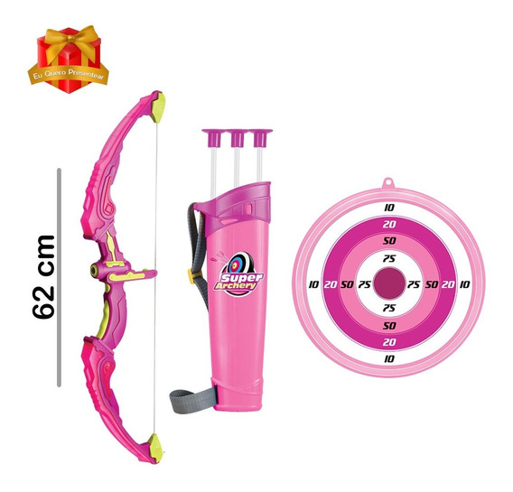 Brinquedo Arco E Flecha Sport Plus Com Luz - Arco 62cm