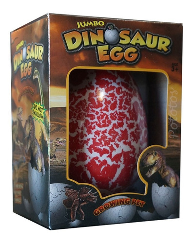 Huevo De Dinosaurio Se Rompe Y Crece En El Agua - Alt 12cm