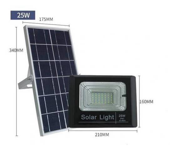 Foco Solar 25w Flood Light Con Control Remoto