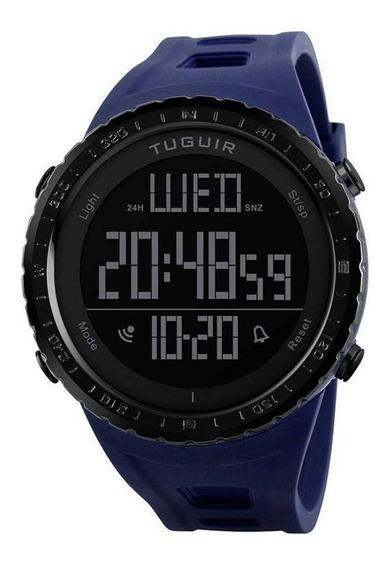 Relógio Masculino Tuguir Digital Tg1246 Azul C Garantia E Nf
