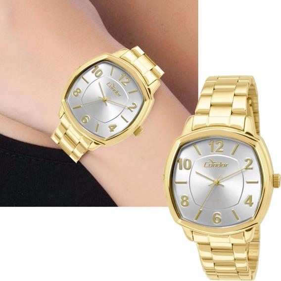 Relógio Feminino Condor Dourado Original Co2035kor/4k