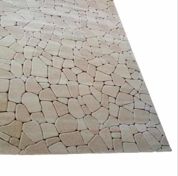 Tapete Royal Asos 2.40 X 3.40 Estampa De Pedra Relevo 3d
