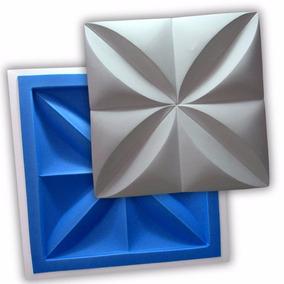 Forma 3d Placa Gesso - Ref.02 - 35,5x35,5cm Plástico + Eva
