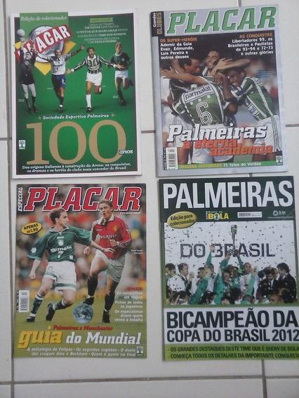 4 Revistas Palmeiras 100 Anos Grandes Clubes Campeão