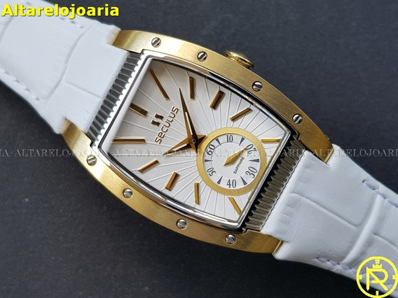 Relógio Feminino Seculus 166721069 Swiss Made Vidro Safira
