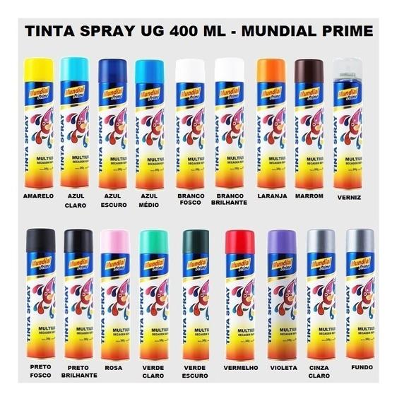 Tinta Spray Mundial Prime Uso Geral 400 Ml - 10 Unidades