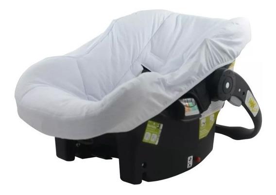 Capa P/ Bebê Conforto Modelo Universal Na Cor Branca