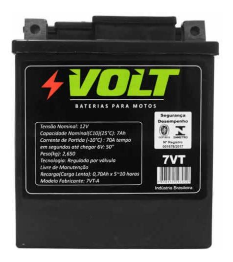 Bateria Moto 7ah - Twister/cb300/tenere/falcon/lander/fazer