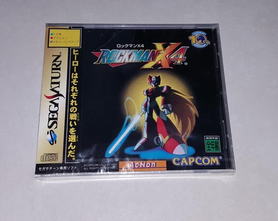 Mega Man X4 Sega Saturn Novo Lacrado! S Raro A+++