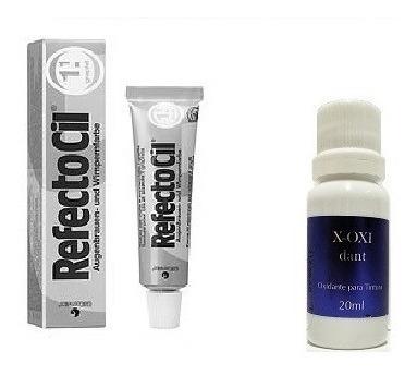 Tintura P/ Barba Cílios Sobrancelhas Refectocil 1.1 Grisalho