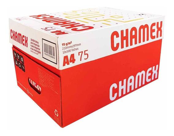 Papel Sulfite A4 Chamex Office - Caixa Com 5000 Folhas