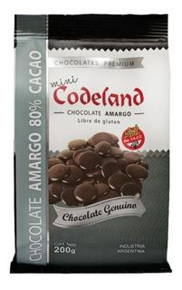 Chocolate Amargo 80% Mini Codeland X 200 Grs