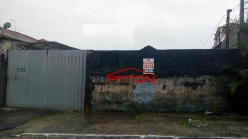 Terreno À Venda, 340 M² Por R$ 400.000,00 - Parque Boturussu - São Paulo/sp - Te0291