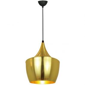 Pendente Dourado Gold 3 Réplica Tom Dixon Lamp Show D