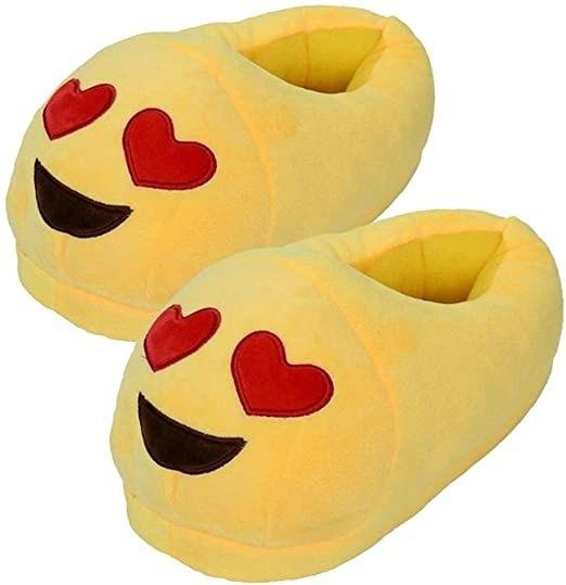 Pantuflas Emoji Corazon