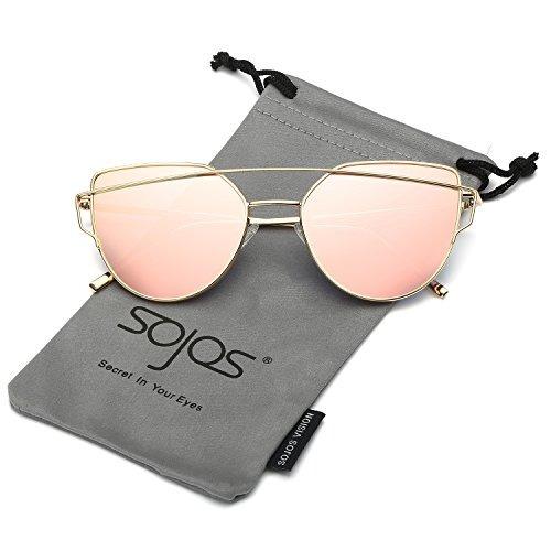 64bb807693 Sojos Gafas De Sol Mujer Ojo De Gato Modernas Marco Metal L - $ 453.75 en  Mercado Libre