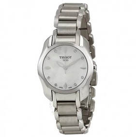 Relógio Tissot Feminino Twave /cinza/diamante Madre Pérola