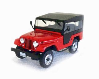 Miniatura 1/43 Jeep Willys Cj5 Ano 1963 Carros Inesquecíveis