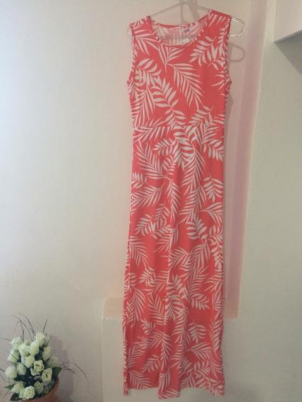 Vestido Longo Estampado Coral Moda Evangélica