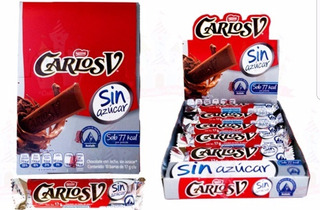 Chocolate Carlos V Sin Azucar Sugar Free Oferta Remate Light
