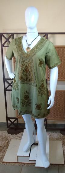 Vestido Saída De Praia / Bata/ Moda Plus Size Indiana C217