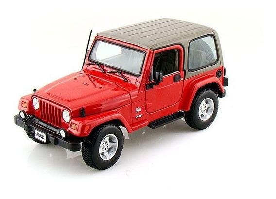 Jeep Wrangler Sahara Vermelho - Escala 1:18 - Bburago