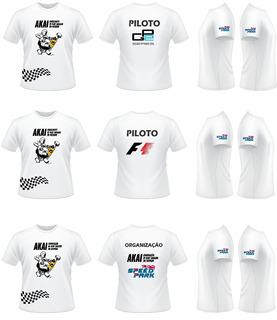 6 Camisetas Personalizadas Equipe De Kart