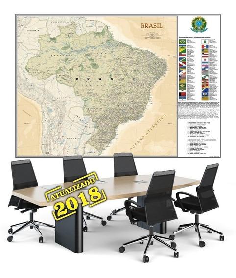 Mapa Do Brasil 90x120cm Político Econômico Papel Fotográfico