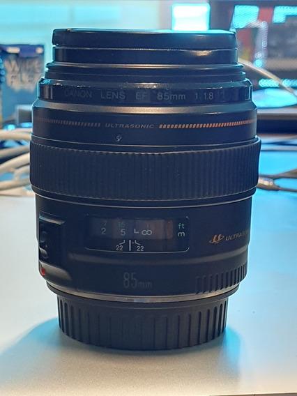 Objetiva Canon Ef 85mm F/1.8 Usm - Sem Juros - Frete Grátis