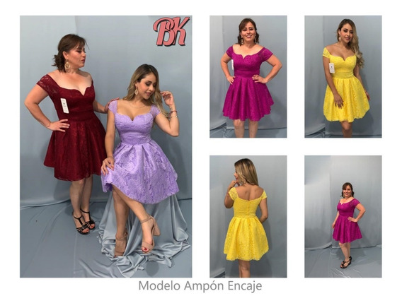 Vestidos De Fiesta Modelo Ampon Encaje