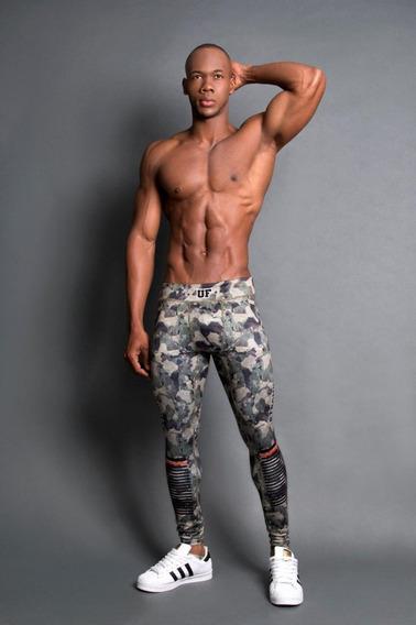 Hombre Lycra Legging Colombiana